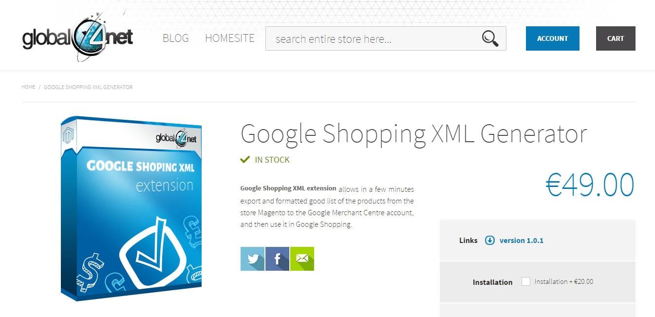 google-shopping-xml-generator