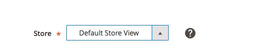 elegir vista de tienda para la url