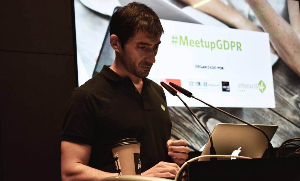 Sergio Fernandez de I4 MeetupGDPR